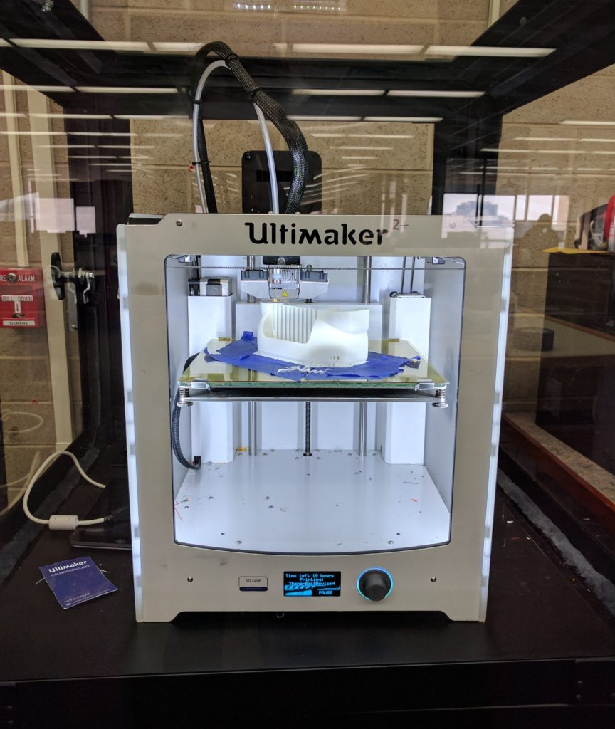 Our Ultimaker 2+ 3D Printer in action.